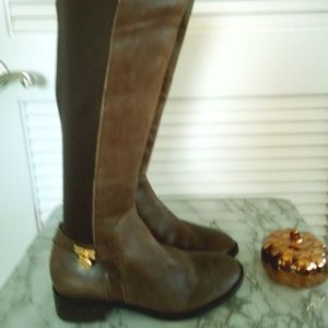 Michael Kors Leather Riding Brown boots 6.5 EUC